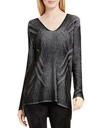 Vince Camuto Two By Plaited Ribbed V Neck Tunic Rich Black