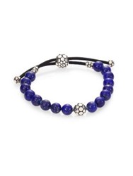 John Hardy Dot Lapis Lazuli And Sterling Silver Bead Bracelet