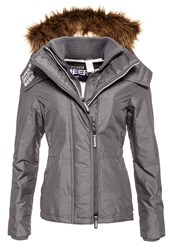 Superdry Hooded Fur Sherpa Wind Attacker Grey Marl