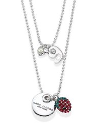 Marc Jacobs Layered Coin Pendant Necklace Silver
