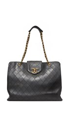 Wgaca Chanel Supermodel Bag Previously Owned Black