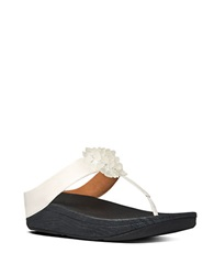 Fitflop Blossom Leather Thong Sandals Urban White