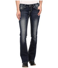 Rock And Roll Cowgirl Rival Bootcut In Dark Vintage W6 6422 Dark Vintage Women's Jeans Navy