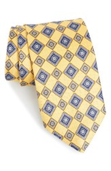 J.Z. Richards Men's Geometric Silk Tie Yellow