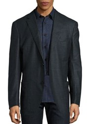 Luciano Barbera Window Pane Open Jacket Open Green