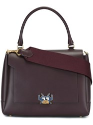 Anya Hindmarch 'Space Invaders Bathurst' Satchel Pink Purple