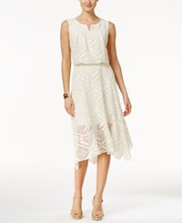 Styleandco. Style And Co. Split Neck Crochet Dress Only At Macy's Vintage Cream