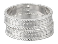 Anna Beck Set Of 2 Stacking Band Rings Sterling Silver Ring