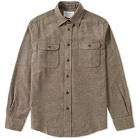 Tripl Stitched Tweed Overshirt Green