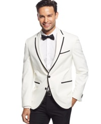 Kenneth Cole New York White Evening Slim Fit Sport Coat