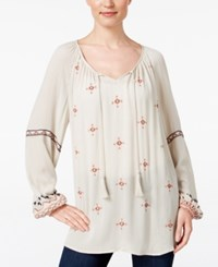 Styleandco. Style Co. Petite Embroidered Peasant Blouse Only At Macy's Emerald Embrace