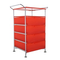Kartell Mobil 4 Drawer Shelf Orange