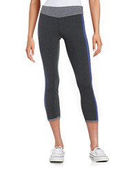 Kensie Colorblocked Athletic Pants Slate Heather