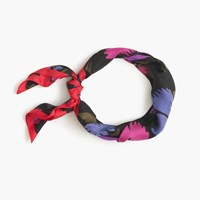 J.Crew Italian Silk Square Scarf In Painted Pansy Print