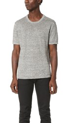 Club Monaco Linen Crew Tee Heather Grey