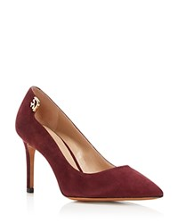 Tory Burch Elizabeth Pointed Toe High Heel Pumps Port