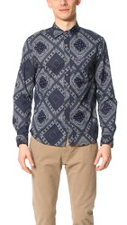 Alex Mill Bandana Print Sport Shirt Navy