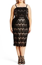 City Chic Plus Size Women's 'Siren' Strapless Lace Sheath Dress