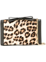 Boutique Moschino Leopard Print Crossbody Bag Black