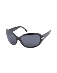 Web Class Plastic Rounded Sunglasses Shiny Black Smoke