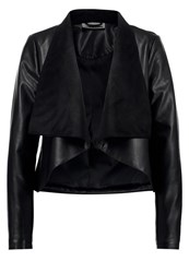 Noisy May Nmdrapy Faux Leather Jacket Black
