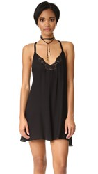 Free People Kendall Trapeze Slip Dress Black