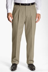 John W. Nordstrom New Supima Pleated Pant Beige