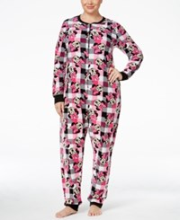 Briefly Stated Plus Size Minnie Mouse Plaid Jumpsuit