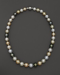 Bloomingdale's 14K White Gold South Sea And Tahitian Pearl Necklace No Color