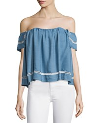 Lovers Friends Life's A Beach Off The Shoulder Top Blue