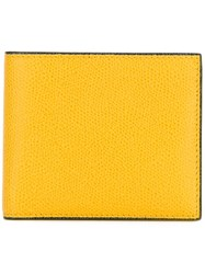Valextra Billfold Wallet Yellow And Orange