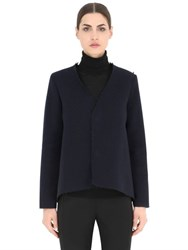 Esgivien Pleated Wool Blend Ottoman Jacket