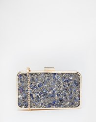 Liquorish Embellished Clutch Bag Navy