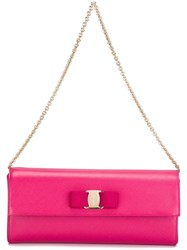 Salvatore Ferragamo 'Vara' Clutch Pink And Purple