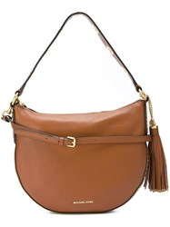Michael Michael Kors 'Brooklyn' Convertible Shoulder Bag Brown