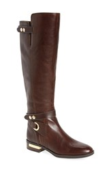 Vince Camuto Women's Prini Knee High Ankle Strap Boot Coffee Grind