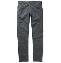 Ag Jeans Dylan Slim Fit Brushed Cotton Twill Trousers Gray