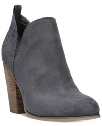 Carlos By Carlos Santana Rouen Cut Out Block Heel Booties Women's Shoes Titanium Blue