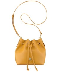 Anne Klein Small Nina Drawstring Crossbody Ochre