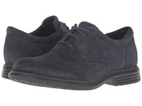 Rockport Total Motion Fusion Wing Tip Dark Shadow Men's Lace Up Wing Tip Shoes Black