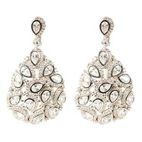 Latelita London Peacock Earring Silver White Silver