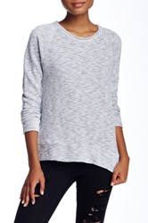 Stateside Terry Knit Raglan Sweater White