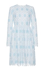 Huishan Zhang Crochet Lace Alexia Dress Blue