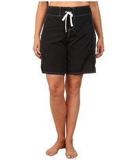 Tommy Bahama Plus Size 9 Boardshorts Black Women's Swimwear