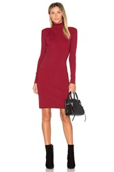 Egrey Turtleneck Sweater Dress Red