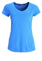 Nike Performance Miler Sports Shirt Light Photo Blue Reflective Silver Royal Blue