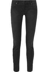 Maje Ping Pong Mid Rise Skinny Jeans Black