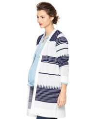 A Pea In The Pod Maternity Printed Open Front Cardigan