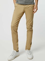 Topman Mustard Stretch Skinny Chino Yellow