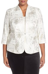 Plus Size Women's Alex Evenings Jacquard Knit Twinset